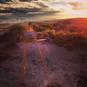 painting on Surfside Beach